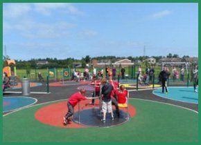 Play area at Elms Park, Ballysally
