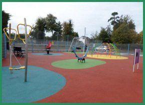 Colourful play area