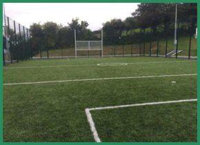 An outdoor sports court