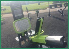 An outdoor gym