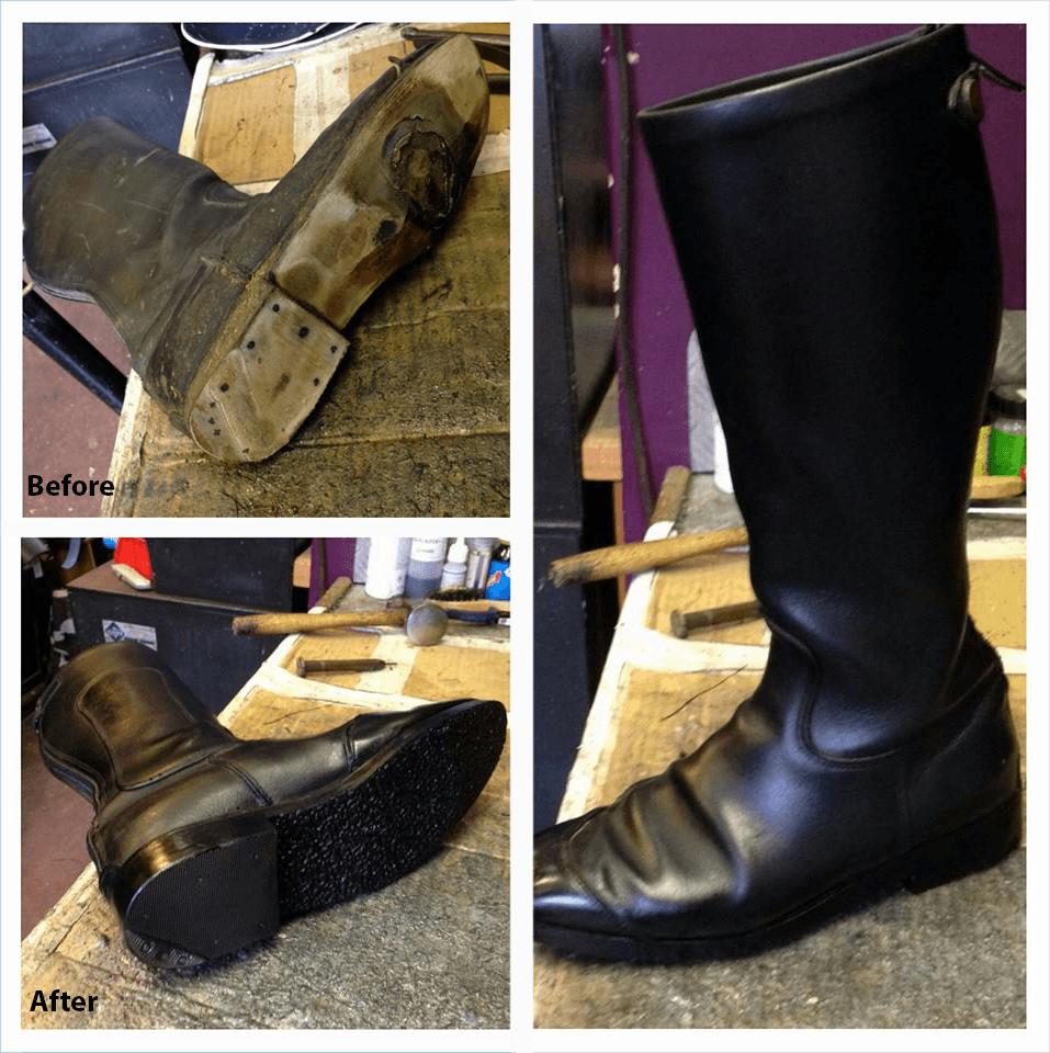 Riding boot repairs