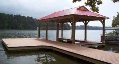 One of our finished docks in Alexander City, AL