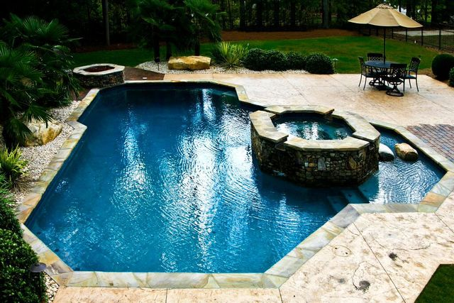 Inground Pool Builders Lake Wylie Nc Custom Pool Builders Waxhaw Nc