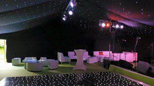 Wedding venue set up for night do