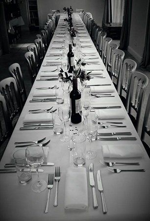 A table ready for a function