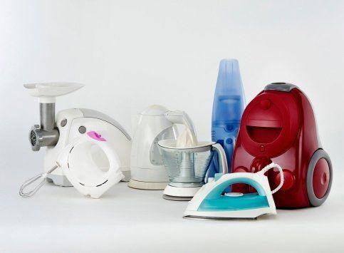 diversi tipi di prodotti elettrodomestici