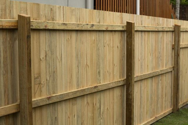 wooden yard fence