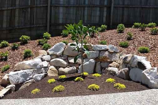 odyssey landscapes curved stone wall