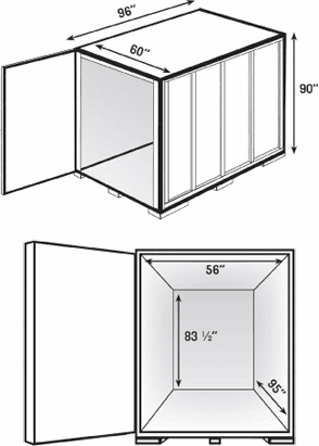 Storage Unit Dimensions from Pedro's Moving & Storage