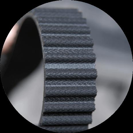 Close up of cam belt
