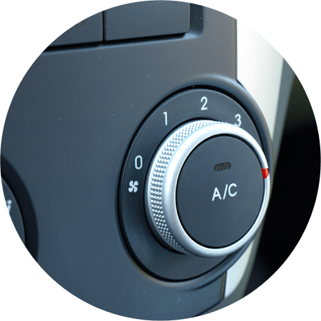 Car air conditioning dial