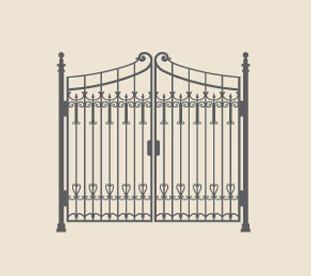 vector graphic of ornate metal gates