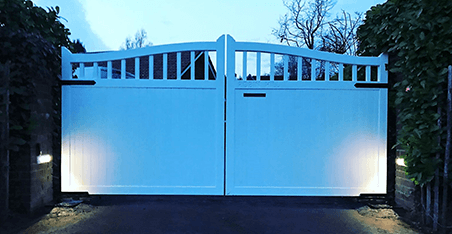 Robust, well-crafted wooden gates   Farnham