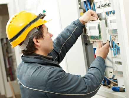 Expert checking electricity and security system