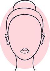 una sagoma di un volto di una donna a forma ovale