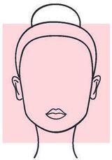 una sagoma di un volto di una donna a forma quadrata