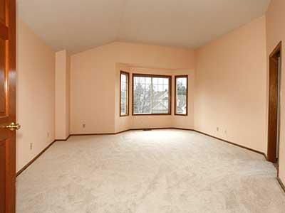 Large empty master bedroom