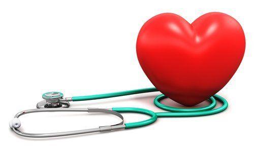 cuore finto con Stetofonendoscopio