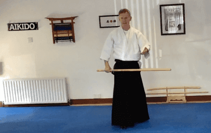 Japanese sword fitness classes. Martin Acton's Aikido Institute
