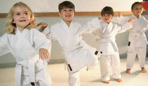 Aikido children warming up at start of the lesson at Martin Acton's Aikido Institute
