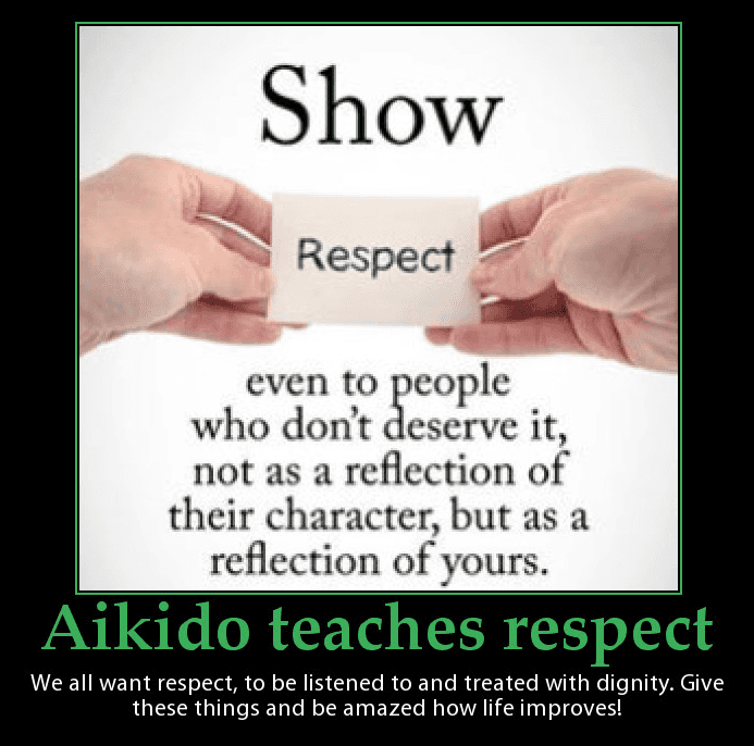 Aikido teaches respect. Martin Acton's Aikido Institute