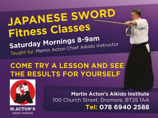 Japanese sword fitness courses, Martin Acton's Aikido Institute