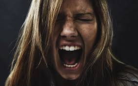 This is an angry woman screaming in frustration