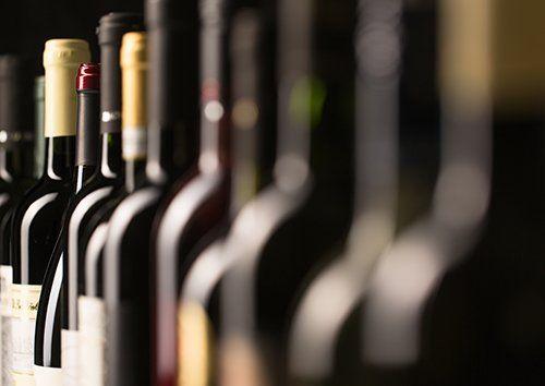 Le bottiglie di vino al ristorante a Rionero in Vulture
