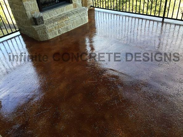 Texas U2014 Fireplace With Stain Flooring In, San Antonio, TX