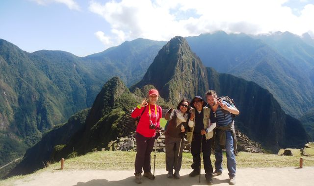 Happy Tourists at Machupicchu