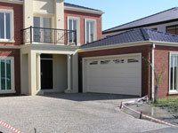 Concrete driveway installing