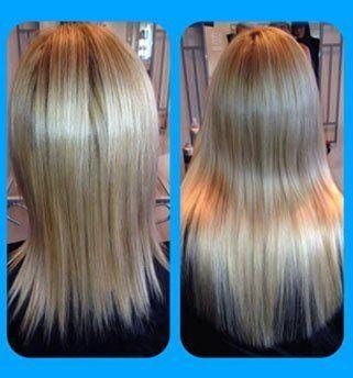 straightened hair