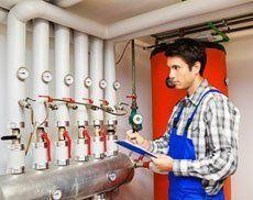 Boiler servicing technicians