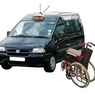 A taxi with wheelchair access