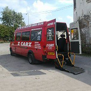 One of our vehicles with wheelchair access