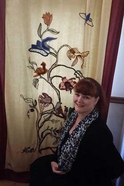 Anita O'Neill a textile artist and founder of Eau Brink Studio