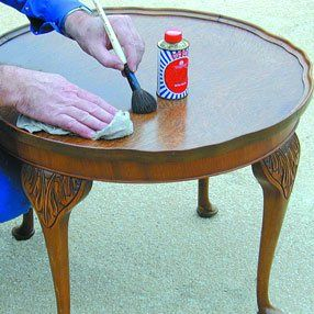 Antique furniture polishing