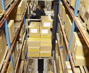 brown storage boxes