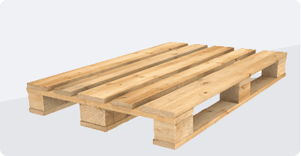 A reconditioned pallet
