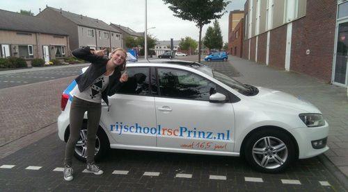 Geslaagde leerling van rijschool rsc Prinz in Emmen