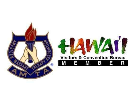 AMTA and Hawaii Visitors & Convention Bureau logos