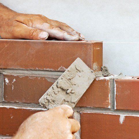 brick wall erection