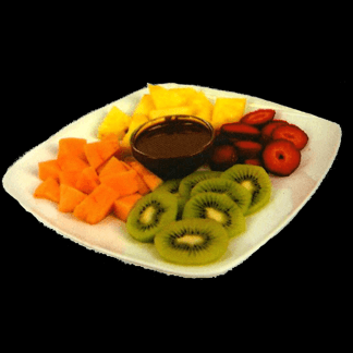 Frutta fresca e nutella per due persone