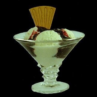 Gelato allo yogurt e frutti di bosco