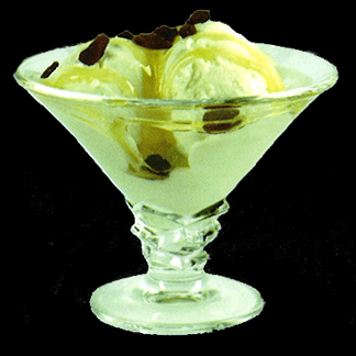 Gelato allo yogurt, miele e uvetta