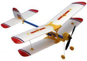 un aeroplanino bianco a disegni rossi