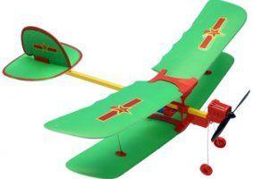 un aeroplanino verde a disegni rossi