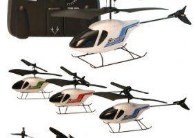 quattro elicotteri e un radiocomando