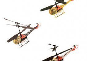 tre elicotteri gialli e arancioni