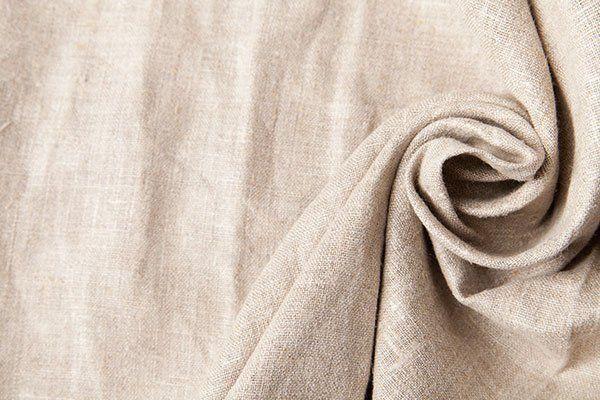 Tessuto in lino color beige